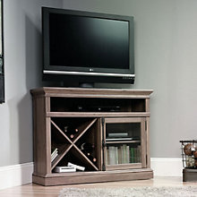 Barrister Lane Corner TV Stand with Glass Door, SAU-11061