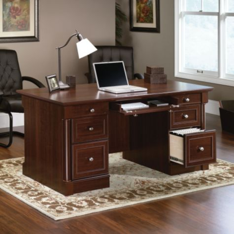Palladia Office Set In Cherry By Sauder Officefurniture Com