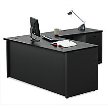 via compact l desk 60w 8803864 black office desks