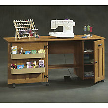 American Cherry Craft and Sewing Cart, SAU-400367