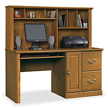 Orchard Hills Computer Desk with Hutch, SAU-401354