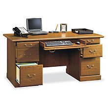 Orchard Hills Double Pedestal Executive Desk, SAU-401822