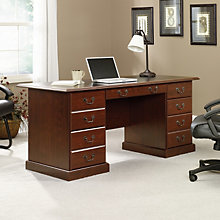 Heritage Hill Executive Desk with Inlay Top, SAU-402159