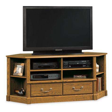 orchard hills large corner tv stand sau 403818. Black Bedroom Furniture Sets. Home Design Ideas