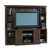 Cinnamon Cherry Flat Panel Entertainment Center, SAU-403932