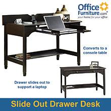 Edge Water Convertible Laptop Desk with Digital Dock, SAU-409045