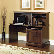 Graham Ridge Computer Desk with Sunset Granite Top and Hutch, SAU-409923