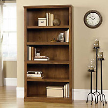 Oiled Oak Finish Five Shelf Bookcase, SAU-410367