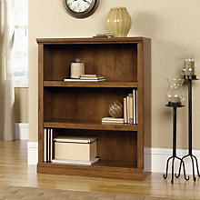 Oiled Oak Finish Three Shelf Bookcase, SAU-410372