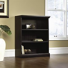 Estate Black Three Shelf Bookcase, SAU-412176