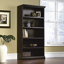 Estate Black Five Shelf Bookcase, SAU-412177