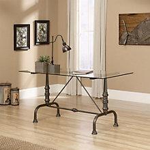 "Barrister Lane Glass Top Desk - 60""W, 8804363"