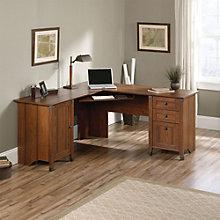 """Carson Forge Corner Computer Desk - 66""""W, 8804387"""