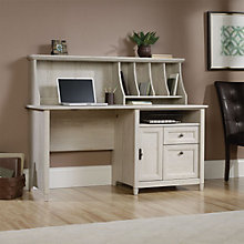 "Edge Water Single Pedestal Desk with Hutch- 59""W, 8804406"