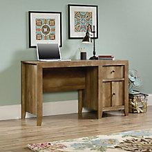 "Dakota Pass Single Pedestal Desk with Two Drawers - 53.125""W, 8805146"