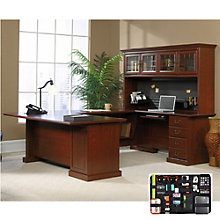Heritage Hill Executive U-Desk with Hutch and Grid-It Desk Organizer, 8804556