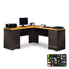 Harbor View Reversible L-Desk with Grid-It Desk Organizer, 8804559