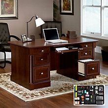 Palladia Executive Desk with Grid-It Desk Organizer, 8804562