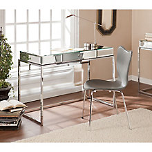 "Dana Mirrored Surface Writing Desk - 43""W, 8802698"