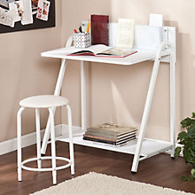 "Benevento Modern Desk and Stool Set - 31.5""W, 8802703"