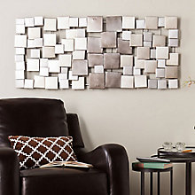 "Wavson Hanging Metallic Wall Art - 47""W x 21.25""H, 8802736"