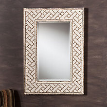 "Florian Decorative Brass Stud Mirror - 36""H x 25""W, 8802712"