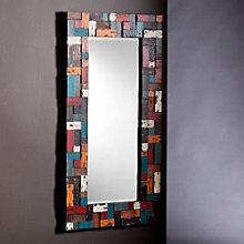 "Dupree Multicolor Framed Mirror - 48""H x 24.25""W, 8802715"