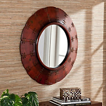 "Aberdeen Distressed Decorative Mirror - 30""H x 30""W, 8802789"
