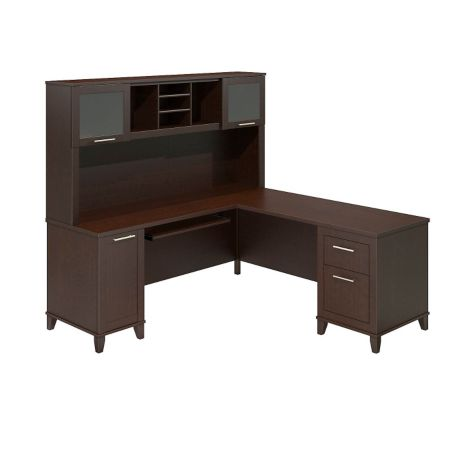 71 W Bush Somerset Reversible L Desk W Hutch