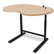 "Kidney Shaped Crank Height Adjustable Table - 33""W, SIU-1610"