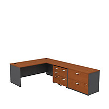 "Series C L-Desk with Pedestal - 72""W x 30""D, 8808128"