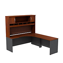 "Series C Right Hand Corner Desk with Hutch - 72""W, 8808131"