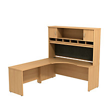 "Series C Left Handed Corner Desk with Hutch - 72""W, 8808130"