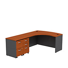 "Series C L-Desk with Two Pedestals - 60""W, 8808136"