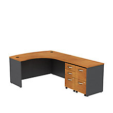 "Series C L-Desk with Two Pedestals - 60""W, 8808137"