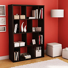 "Reveal 12 Cubby Space Modern Bookcase - 61""H, SSF-10983"