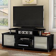 Pure Black Finish Widescreen TV Stand, SSF-4270-601