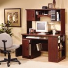 Traditional Cherry Compact Computer Desk, SSF-4606-782