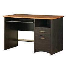 Black Compact Computer Desk with Spice Top, SSF-7378-070