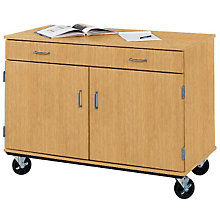 "Heavy-Duty Mobile Storage Cabinet with Drawer- 36""H, STI-8060430-36"