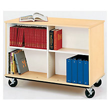 "Heavy-Duty Double Sided Book Cart - 36""H, STI-8060103-36"