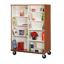 "Heavy-Duty Double Sided Mobile Book Cart - 67""H, STI-8060103-67"