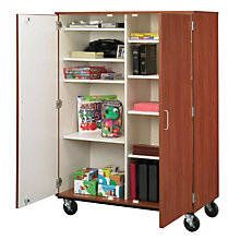 "Heavy-Duty Double Sided Mobile Storage Cabinet - 67""H, STI-8060181-67"