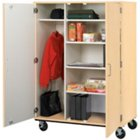 "Heavy-Duty Mobile Wardrobe/Storage Cabinet - 67""H, STI-8060603-67"