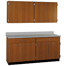 "Two Drawer, Eight Door Wall and Base Cabinet Set - 60""W, STI-SA-026608424"