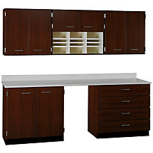 "Standing Workstation Wall and Base Cabinet Set - 90""W, STI-SA-100908424"