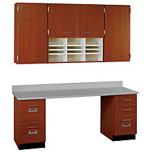 "Workstation with Wall Cabinet - 60""w, STI-SA-151608424"