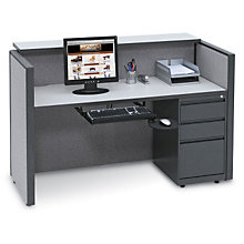 Pewter Haze Compact Reception Desk, OFG-DS1069