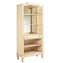 "European Cottage Five Shelf Bookcase with Drawer - 80""H, 8804753"
