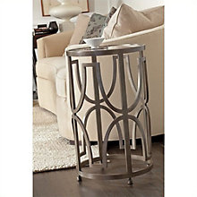 "Avalon Heights Glass End Table - 17""DIA, 8804770"